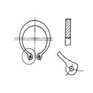 ОСТ 1 10788-85 Кольца пружинные упорные плоские наружные эксцентрические для температур до 300 °С