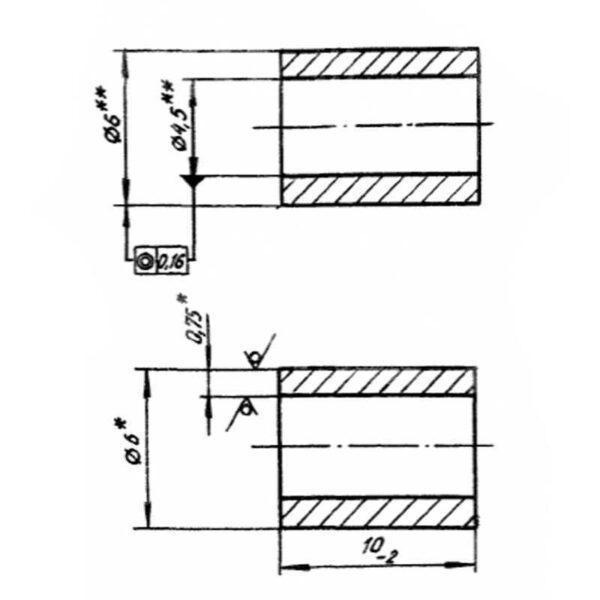 Пломба трубчатая ОСТ 1 10067-71