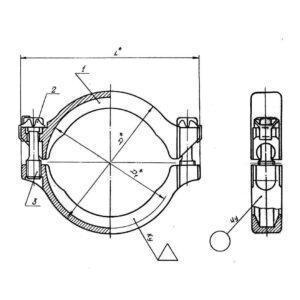 ОСТ 1 11878-74 Хомут двухколодочный (4660А по нормали)