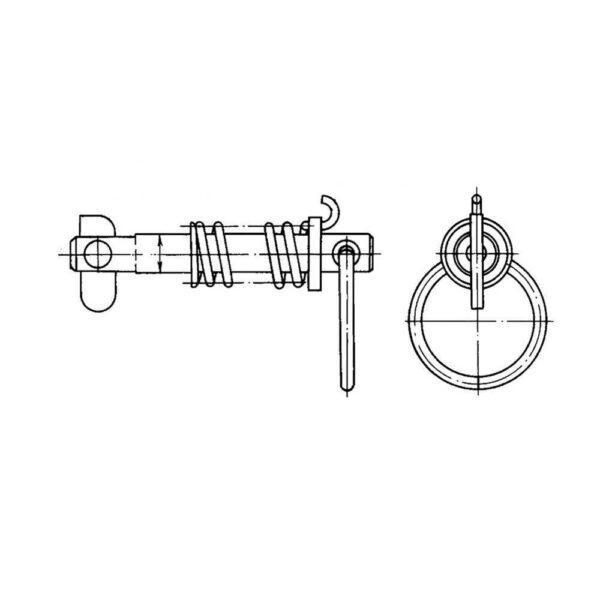 Шпильки стопорные с пружинной ОСТ 1 37023-80