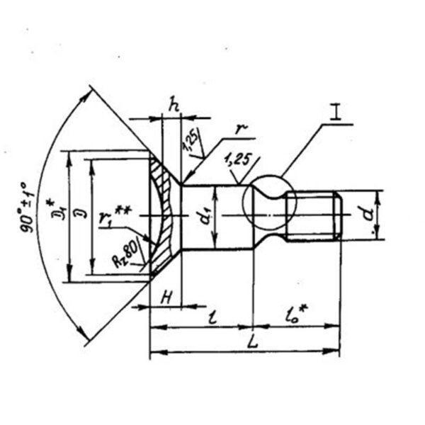 Болты с шестигранной головкой ОСТ 1 31055-86