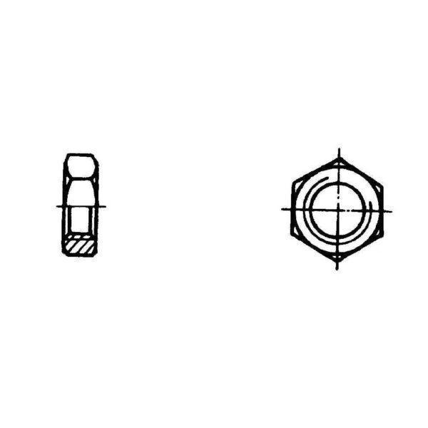 ОСТ 1 33033-80 Гайки шестигранные для нерасчетных соединений и стопорения