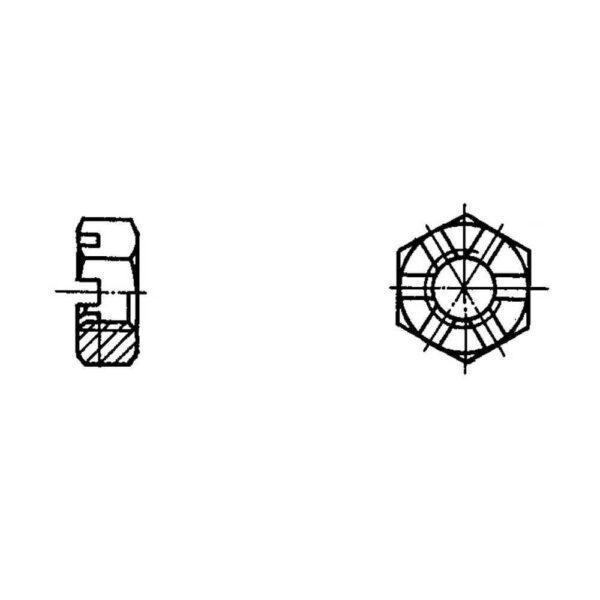 ОСТ 1 33051-80 Гайки шестигранные прорезные низкие