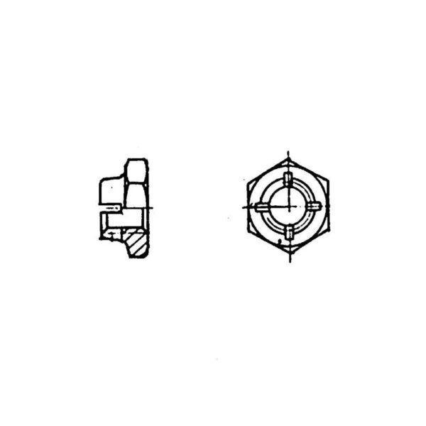 ОСТ 1 33070-80 Гайки шестигранные низкие самоконтрящиеся