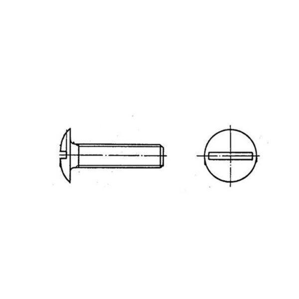 ОСТ 1 31538-80 Винты с плоско-выпуклой головкой