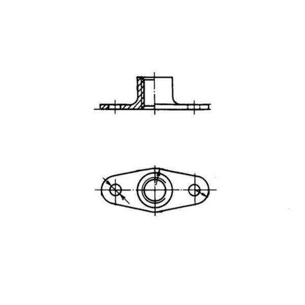 ОСТ 1 33071-80 Гайки двухушковые самоконтрящиеся