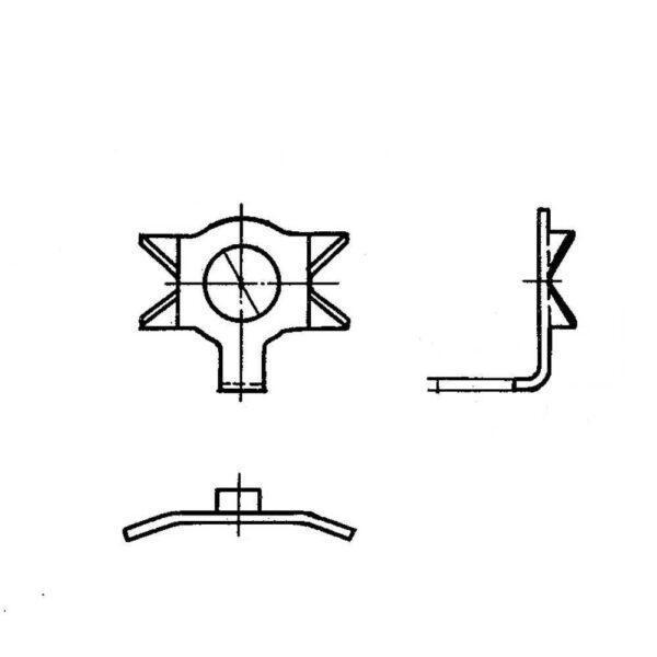 ОСТ 1 34525-80 Шайбы стопорные двухсторонние с носком
