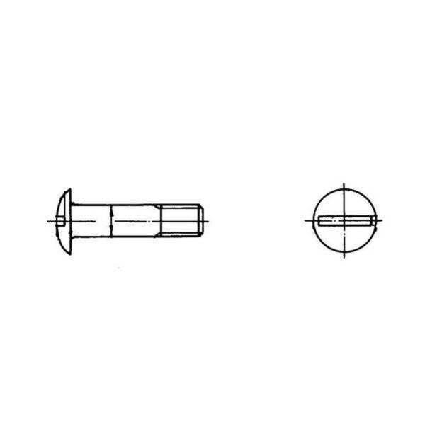ОСТ 1 10575-72 Болты с уменьшенной плоско-выпуклой головкой