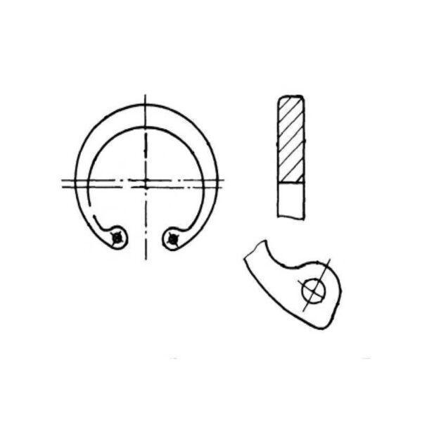 ОСТ 1 10790-85 Кольца пружинные упорные плоские внутренние эксцентрические