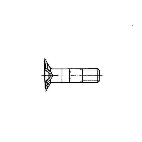 ОСТ 1 10574-72 Болты с полупотайной головкой L120'
