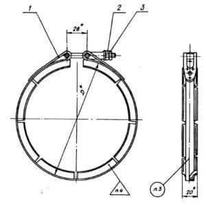 ОСТ 1 10058-71 Хомуты для фланцевых соединений трубопроводов