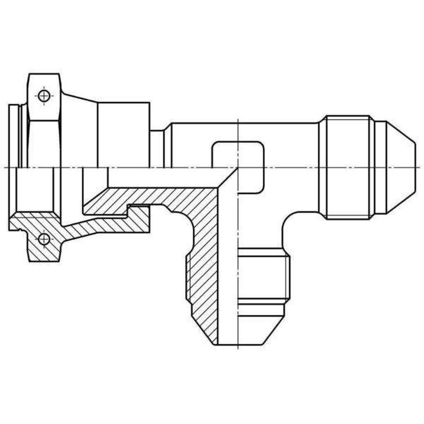 Тройник проходной ОСТ 1 13856-81
