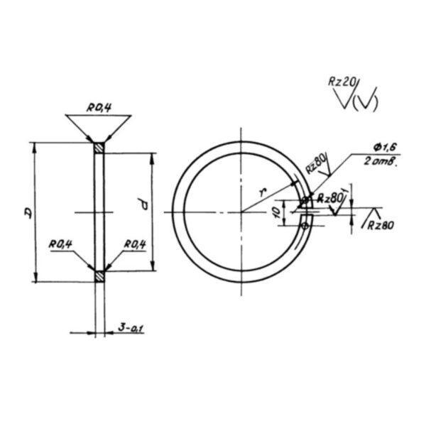ОСТ 1 11472-75 Кольца для ограниченно-подвижных соединений трубопроводов с агрегатами
