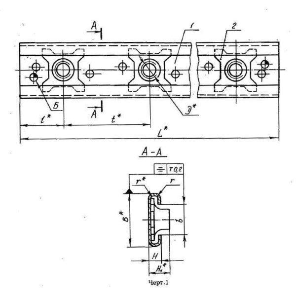 ОСТ 1 37008-80 Профили из алюминиевого сплава с плавающими самоконтрящимися гайками