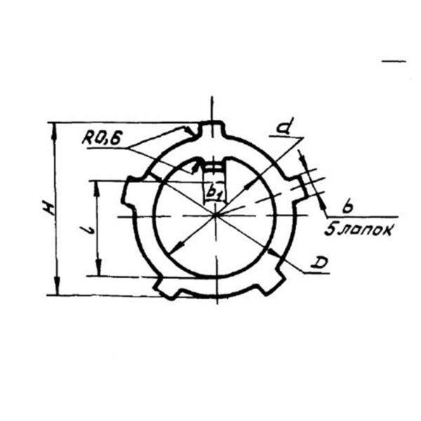Шайба стопорная ОСТ 1 11517-74