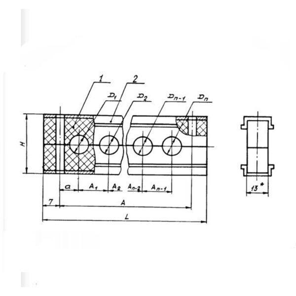 Колодка ОСТ 1 13120-78