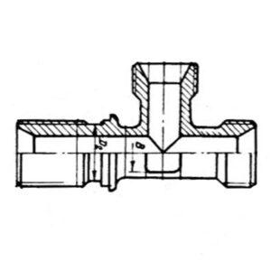 Тройник проходной ОСТ 1 10367-72